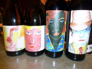 Wines from FC Reserve Line. Label artwork by film production designer Dean Tavoularis.